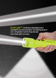 Intrinsically Safe Flashlight with Additional Downward Beam